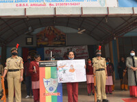 Youth Day celebrated at assembly by Nari Shakti Manch and NCC , SMPPS.